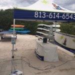 Opciones de Kayak en el area de la piscina de las casitas