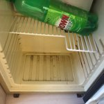 The dirty fridge in the room!