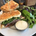 Roast beef and Havarti sandwich