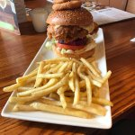 cluck and ale burger