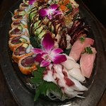 Our sushi platter was so yummy!