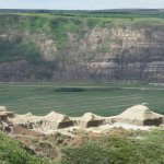 View from Horsethief Canyon Lookout after ferry on way to Drumheller
