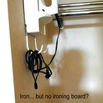 Iron but no ironing board