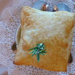 Pot pie with puff pastry topping!