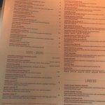Plank menu