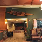 don't miss checking out this canoe in the lobby!