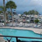 Pool next to restaurant
