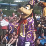 Goofy in the Once Upon a Dream Parade, every day at 3pm down Main Street USA