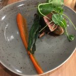 gorgeous beef, with a carrot puree