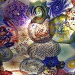 close up of hall piece...blown glass....Beautiful!