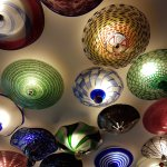 ceiling art pieces of blown glass
