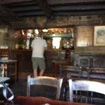 The bar in the Green Dragon Inn