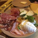 Assortment of meats and cheeses