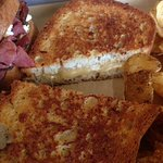 Gluten free bread with housemade almond cheese