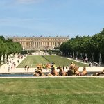 Palace of Versailles from Fountain of Apollo
