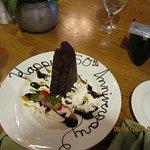 suprise desert from waiter Phillip & the restaurant
