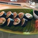 Gebackene Scampi Sushi