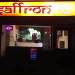 Front of saffron indian takeaway