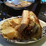 Very nice quality steak and with perfectly cooked onion creates one yummy cheese steak hoagie!!
