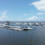 Long Beach Harbor - Gulf of Mexico view from the 2nd floor dining area...