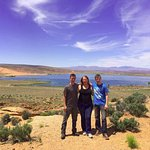 Beautiful view over the reservoir with Southern Utah ATV