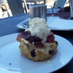 Scones are delicious at the Clock Cafe
