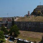 la citadelle de Corfou n'est pas très loin