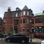 Historic Newbury Street architecture.