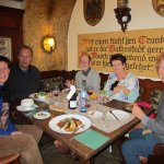 A wonderful German dinner with good friends, food, and wine!