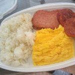 The Local's Favorite: Spam, Portuguese Sausage, Eggs and Rice!