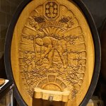1 of 6 manmade carved barrels which was made out of felled huge oaks from the 1987 hurricanes.