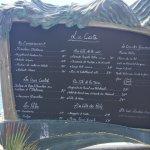 The menu !