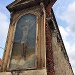 Milano, Colonne di san Lorenzo: affresco della crocifissione