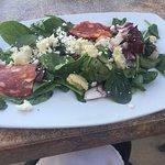 Artichoke salad-Didn't get the need salami ??