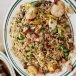 combination fried rice and BBQ pork and duck