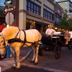 Romantic carriage ride with Cowboy Carriage in downtown Bend