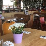 Lovely location great views and food is not only nice but very well presented and fresh. They ev