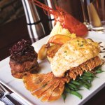 Our famous Surf & Turf featuring Australian lobster, jumbo shrimp, filet mignon and more