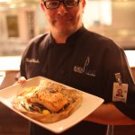 Executive Chef Michael Knowles with one of his culinary creations