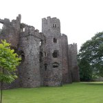 This is a side view of the castle and shows how many floors there once were a great place to vis