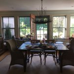 Beautiful dining area with amazing food
