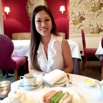 Afternoon tea with Lorena at the sitting room and a view from our junior suite.