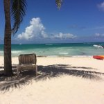 The view from our cabana or beach bed.