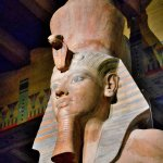 Oriental Institute - The colossal statue of Tutankhamun at the entrance to the Egyptian Exhibit