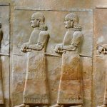 Oriental Institute - Assyrian officials march to Sargon II's palace