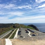 Parking lot from Cabot Tower on Signal Hill