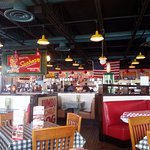 dining area and counter at Portillo's Hot Dogs