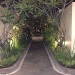 The beautiful walkway that takes you to your villa.
