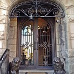Entrance doors to the Villa