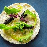 Award winning Crab Mayonnaise, caviar and ice plant